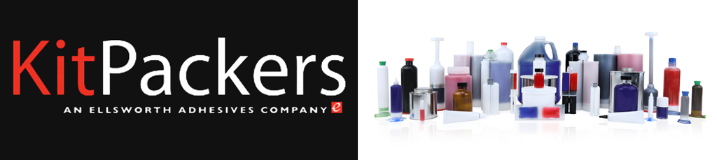 KitPackers logo with custom resin packaging examples.